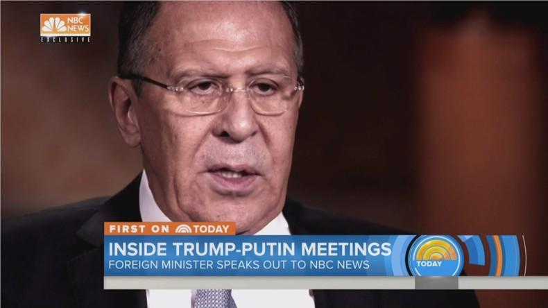 """Lawrow über vermeintliche Geheimtreffen zwischen Putin und Trump: """"Es ist wie im Kindergarten"""""""