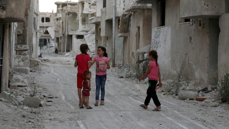 Dorf in Latakia bekommt 1.000 Kilogramm Hilfsgüter aus Russland