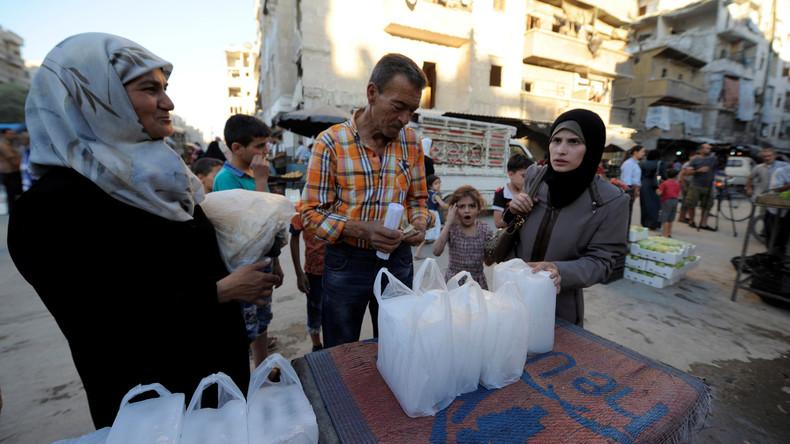 Russland verteilt unter Syrern 2,8 Tonnen humanitäre Hilfe