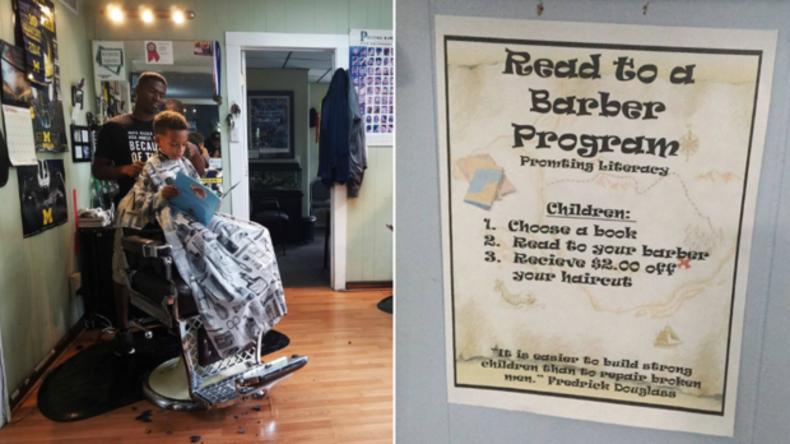 Bücher helfen sparen: Friseur gibt Kindern Rabatt fürs Vorlesen