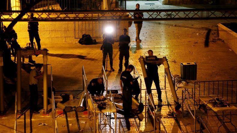 Israel baut Metalldetektoren am Tempelberg ab