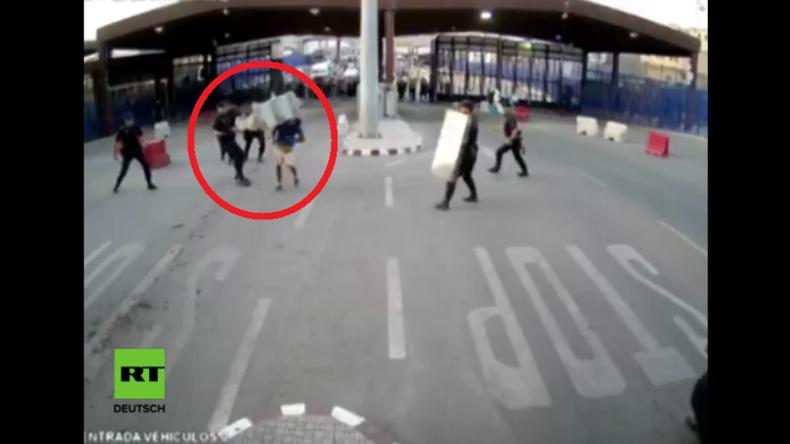Grenze Marokko-Spanien: Video zeigt, wie Polizist Allahu Akbar rufenden Messerangreifer überwältigt