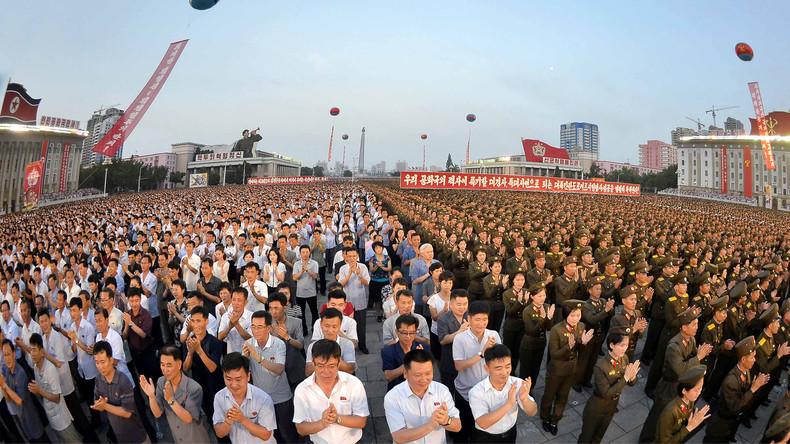 Nordkoreanische Soldaten schwören sich auf Kampfbereitschaft gegen die USA ein