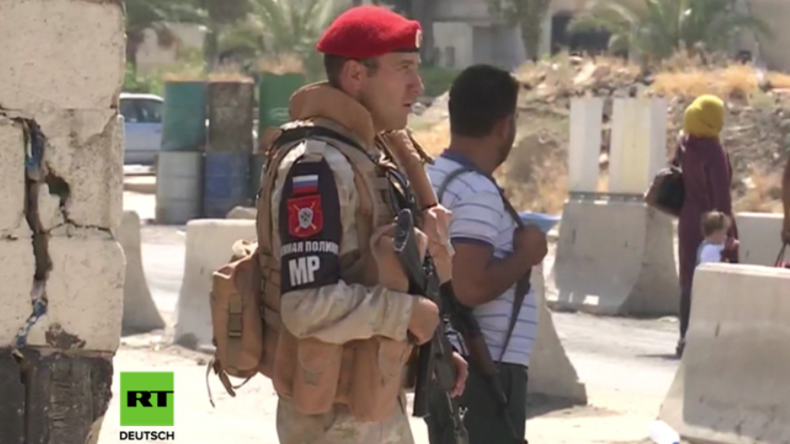 """Syrien: """"Jeder lächelt und begrüßt uns"""" - Russische Militärpolizei patrouilliert nahe Golanhöhen"""