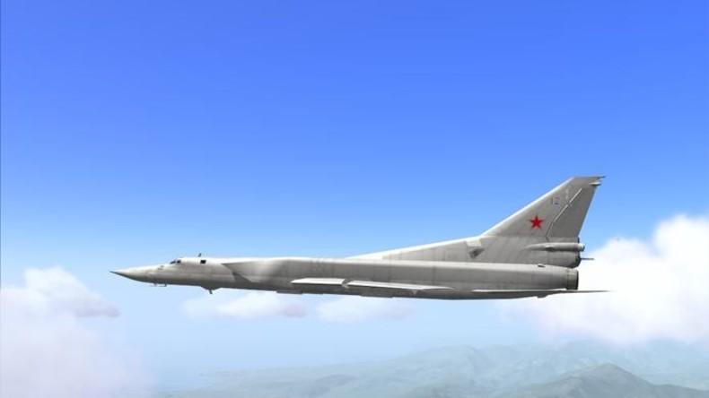 Britische Typhoon Eurofighter jagen russische TU-22-Bomber in neutralem Gebiet über Schwarzem Meer