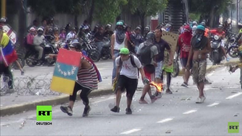 Venezuela: Zusammenstöße in Caracas am zweiten Tag des von Opposition ausgerufenen Nationalstreiks