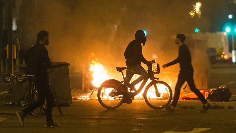 Demonstration gegen Polizeigewalt in London mündet in Ausschreitungen