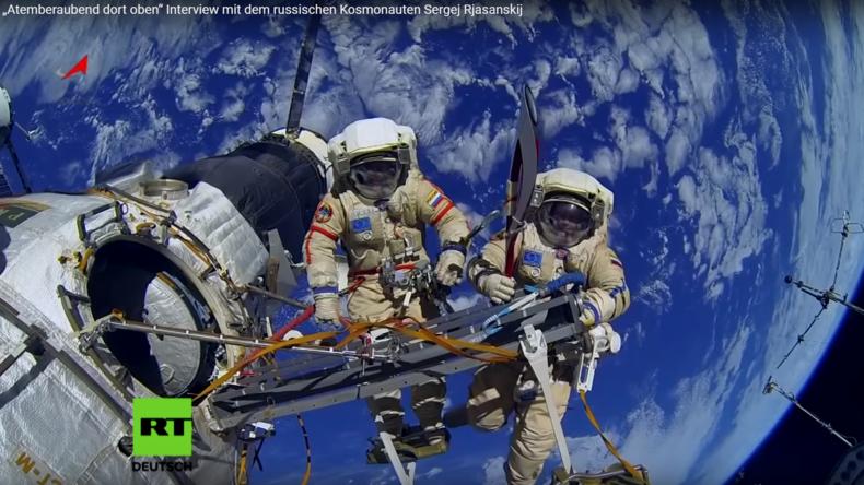 """""""Atemberaubend dort oben"""" Interview mit dem russischen Kosmonauten Sergei Rjasanski"""