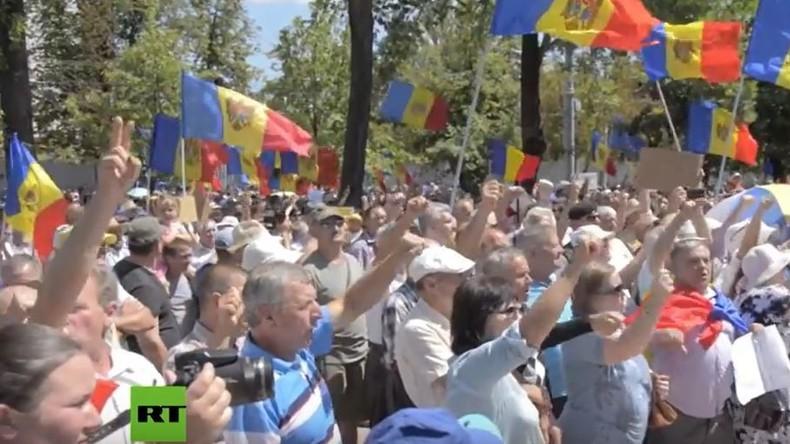 Moldawien: Tausende Demonstranten marschieren gegen Änderungen des Wahlsystems