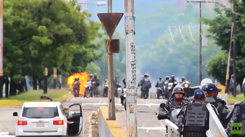 Venezuela: Schüsse und Brandsätze bei Protesten gegen verfassungsgebende Versammlung in Valencia