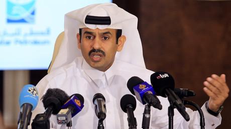Saad al-Kaabi bei einer Pressekonferenz in Doha.
