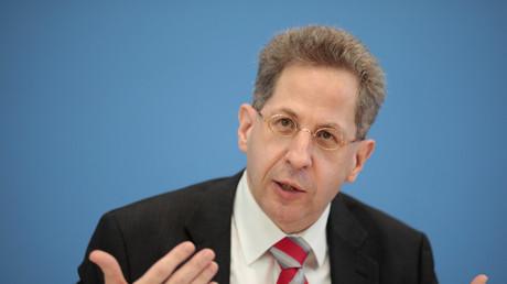 Verfassungsschutzpräsident Maaßen während der Präsentation des neuesten Jahresberichts des Geheimdienstes.