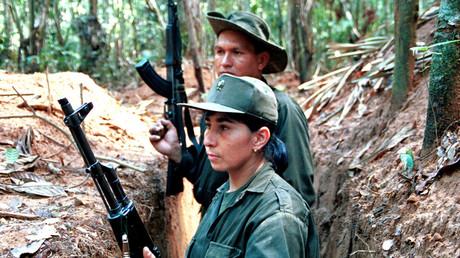 Kämpfer der FARC im Bundesstaat Caqueta, Dezember 1999.