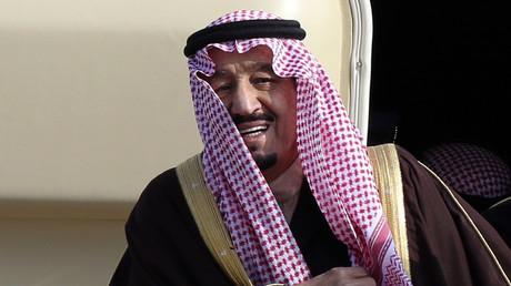 Der jetzige saudische König, damals noch als Kronprinz, bei seiner Ankunft in Tokyo, 18. Februar 2014.
