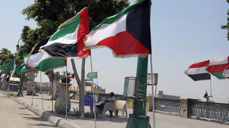 Flaggen Ägyptens und Saudi-Arabiens