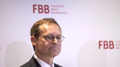 Regierende Bürgemeister Michael Müller auf der Pressekonferenz vom FBB am Berlins Bürgermeister Michael Müller auf einer Pressekonferenz vom FBB am 06.03.2017 in Berlin.