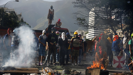 Anti-Regierungs-Proteste in der venezolanischen Hauptstadt Caracas.