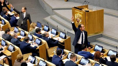Die Abstimmung in der russischen Staatsduma