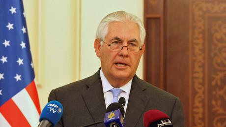 Die vermeintlichen Verstöße gegen die Sanktionen sollen 2014 passiert sein. Damals war der jetzige US-Außenminister Rex Tillerson noch Chef von Exxon.
