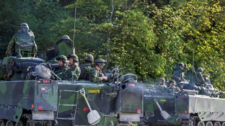 Schwedische Soldaten auf der Insel Gotland, Schweden, 14. September 2016.