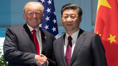Xi Jinping und Donald Trump während des G20-Gipfels in Hamburg, Deutschland, 8. Juli 2017.
