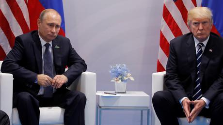 Wladimir Putin und Donald Trump während des G20-Gipfels in Hamburg, Deutschland, 7. Juli 2017.