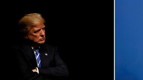 Donald Trump (Iowa, 28. September 2016) neben Xi Jinping (Shanghai, 21. Mai 2014)