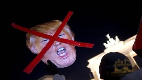 Proteste gegen Trump in Berlin, Deutschland, 12. November 2016.