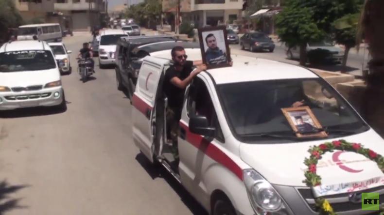 Syrien: Beerdigung des getöteten RT Arabic-Journalisten Khaled Al-Khatib