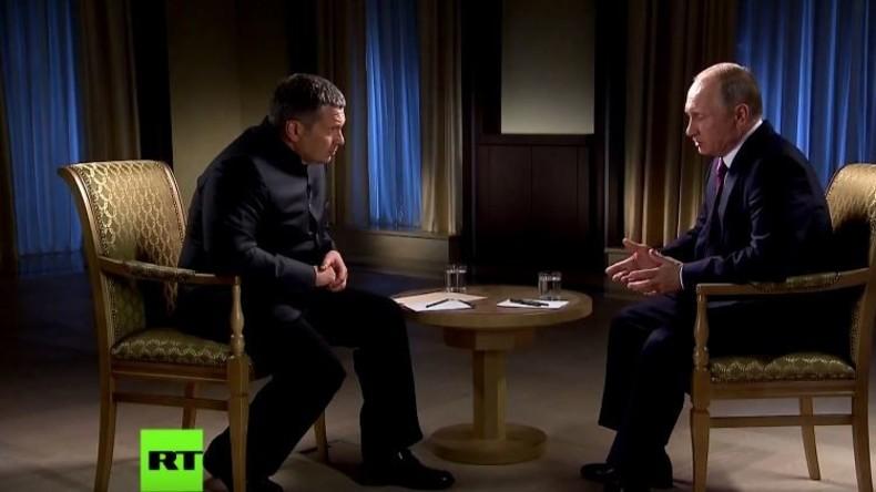 Exklusive deutsche Übersetzung: Putin-Interview zu russischen Gegenmaßnahmen gegen US-Sanktionen