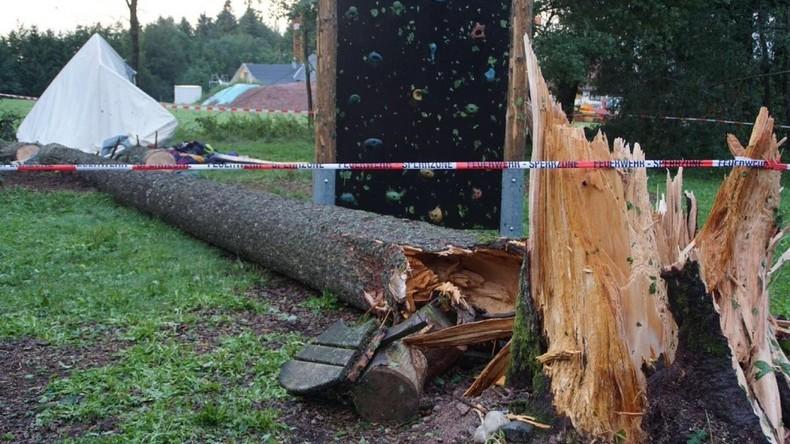 Baum stürzt auf Jugendzeltlager in Baden-Württemberg - Todesopfer war 15 Jahre alt