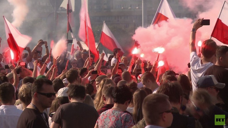Polen: Marsch zum 73. Jahrestag des Warschauer Aufstandes