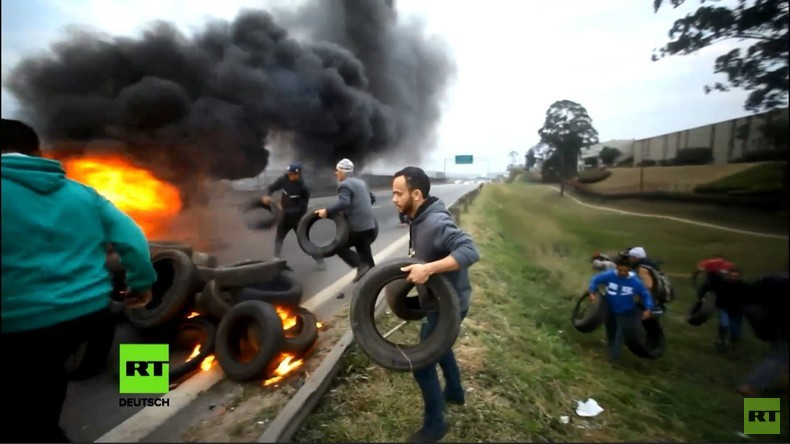 Brasilien: Brennende Reifen in Sao Paulo – Demonstranten fordern Rücktritt Temers