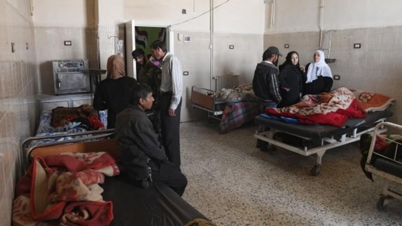 Russische Soldaten liefern 300 Kilogramm Medikamente an Krebskranke in Latakia