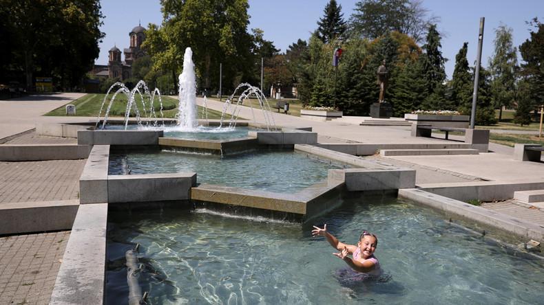 """""""Höllische"""" Hitze am Balkan - 40 Grad in Belgrad"""