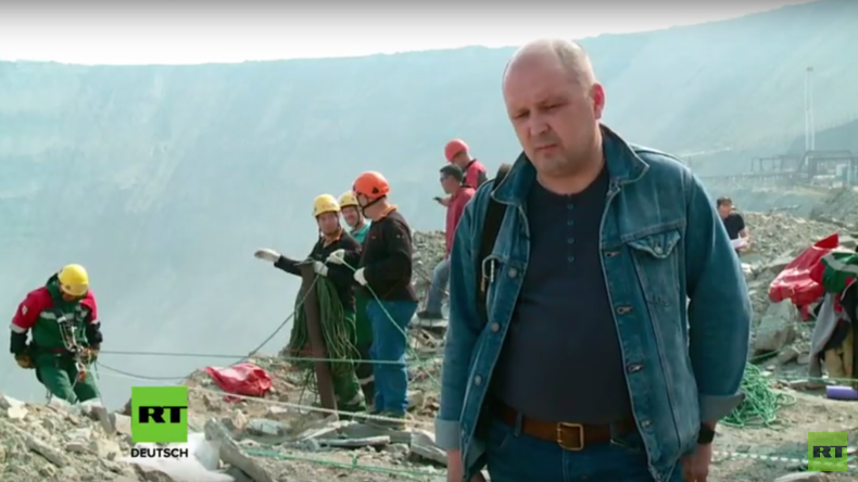 Russland: Suchmannschaft steigt in Diamantmine in der 8 Personen vermisst werden