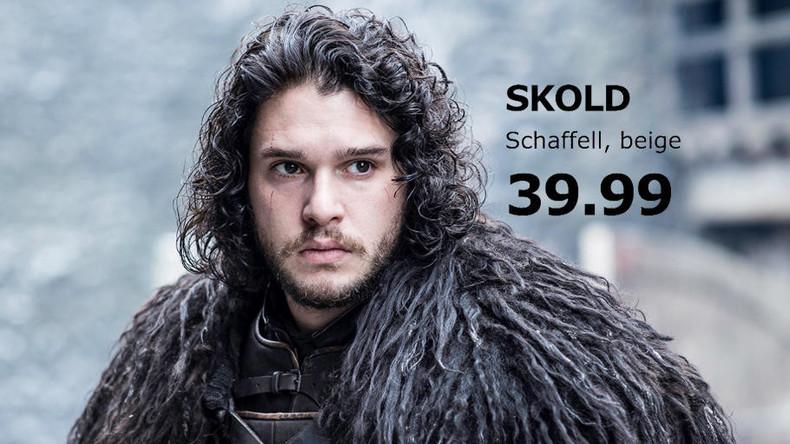 Game of Thrones enthüllt: Fellmäntel der Schauspieler sind in Wirklichkeit IKEA-Teppiche