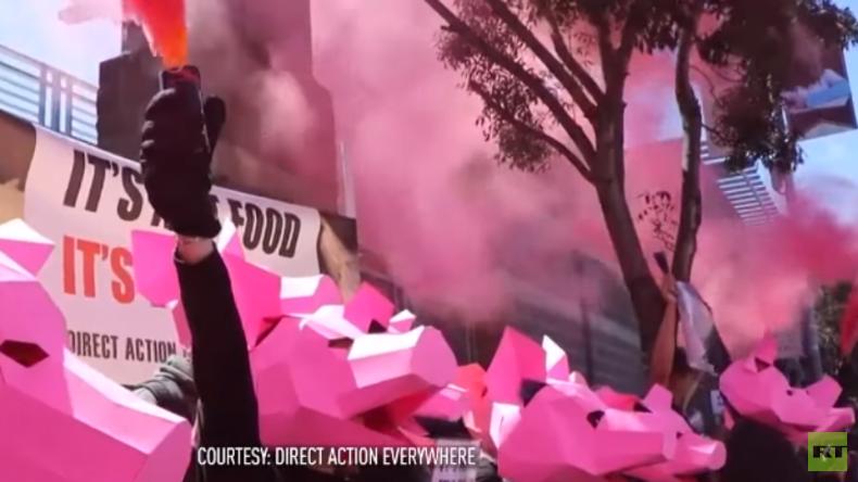 USA: Vegane Aktivisten bedrängen kleine Metzgerei in Kalifornien