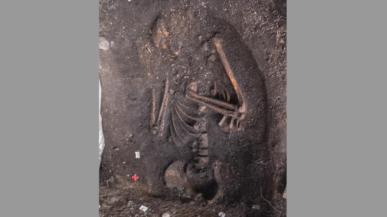 Urgeschichtliches Fischergrab in Lettland entdeckt