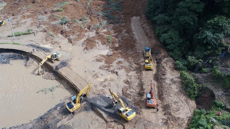 Sechs Tote und 20 Vermisste nach Erdrutsch in China