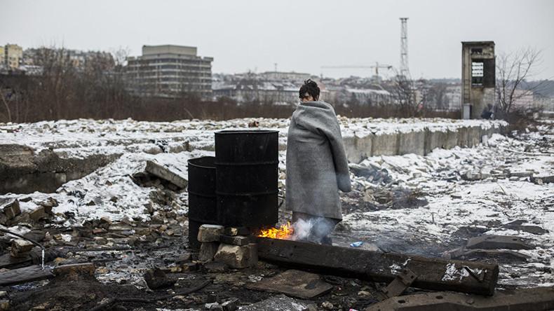 """""""Flüchtlinge in Belgrad""""  vom spanischen Fotografen Alejandro Martinez Velez"""
