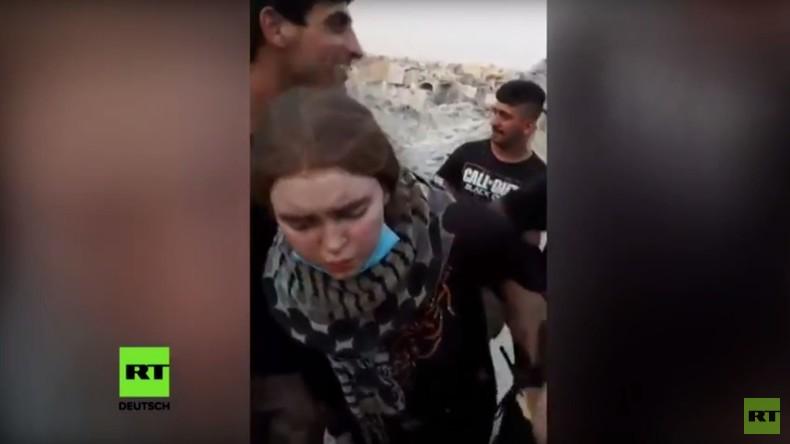 """""""Die Schöne von Mossul"""": Festnahme des deutschen IS-Mädchens Linda W. auf Video festgehalten"""