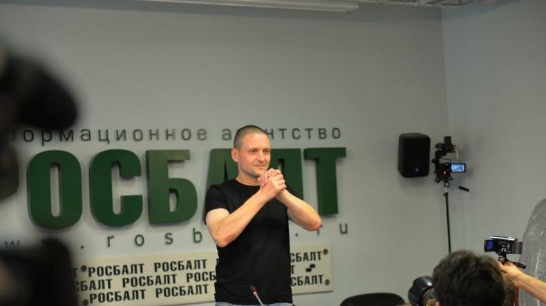Russland: Erster Pressetermin des Links-Aktivisten Sergej Udalzow nach-vier Jahren Haft