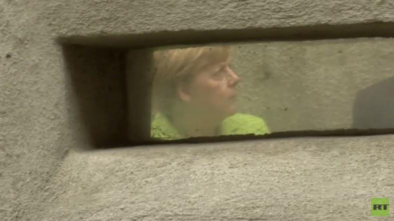 Merkel in Stasi-Gedenkstätte: Bin sehr froh, dass hier Arbeit gegen Linksradikalismus geleistet wird