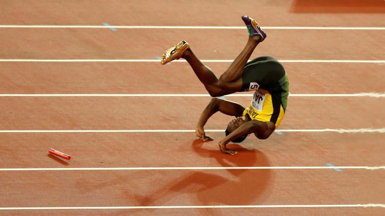 Drama im Abschiedsrennen: Usain Bolt stürzt im Staffelfinale