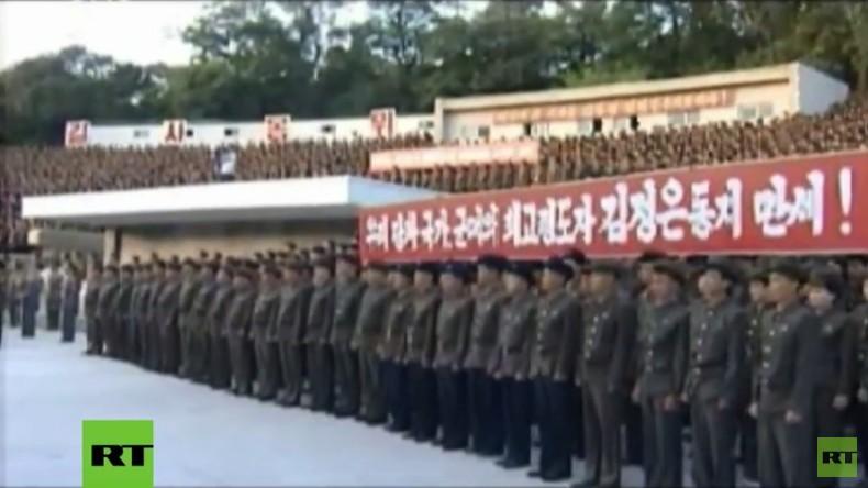 Nordkorea: Tausende Arbeiter versammeln sich gegen UN-Sanktionen und Trump-Drohungen
