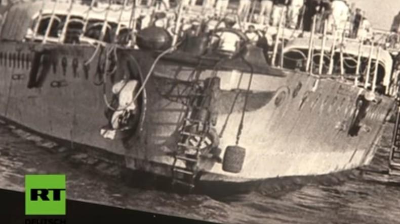 """Uruguay: Riesiger Reichsadler wird versteigert, der von der """"Graf Spee"""" geborgen wurde"""