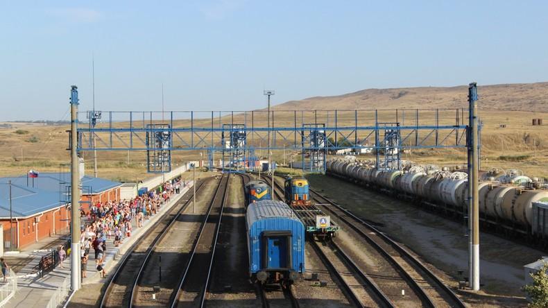 Russland beendet Bau von Eisenbahnstrecke nach Südrussland, die ukrainisches Territorium umgeht