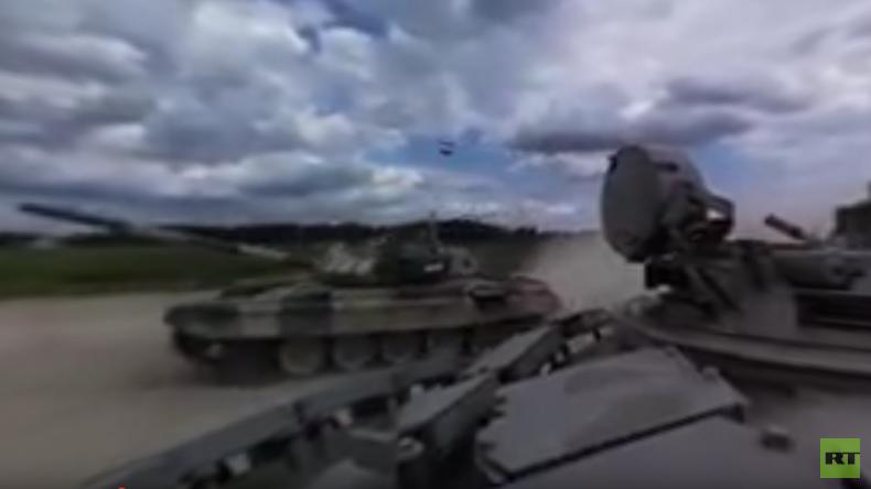 360°-Video: An Bord eines T-72B beim Panzer-Biathlon