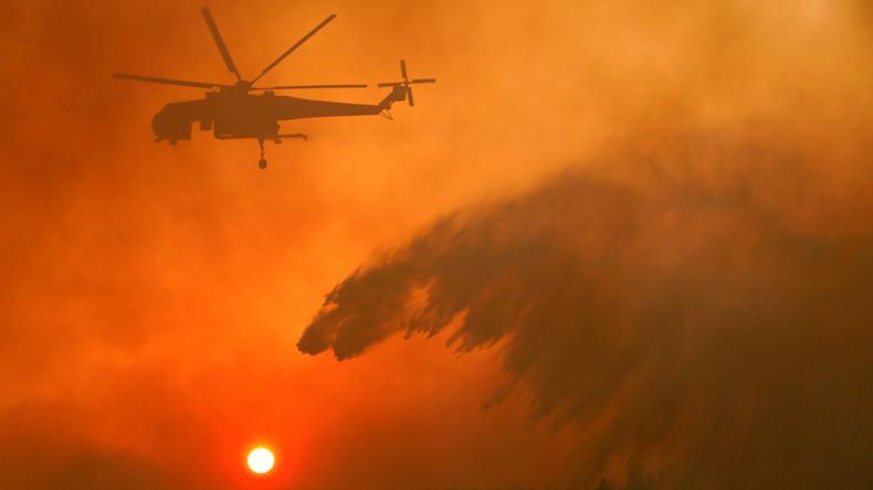 Waldbrände in Griechenland dauern an